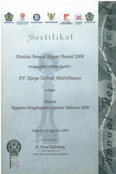 2008 - Peserta Annual Report Award