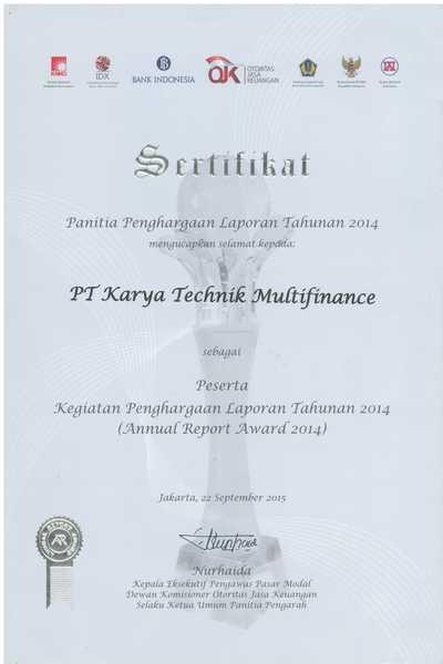 2014 - Peserta Annual Report Award