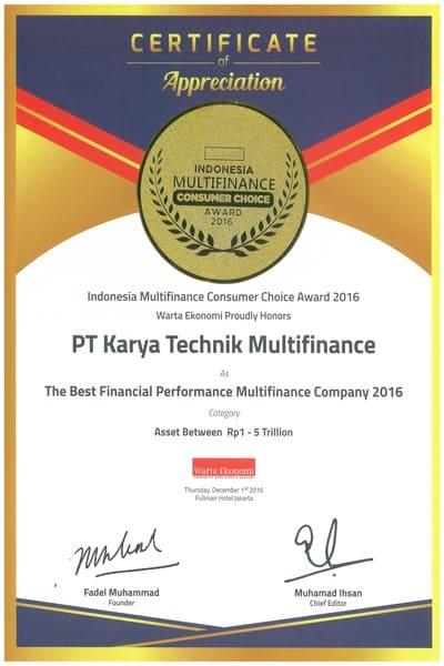2016 - Indonesia Multifinance Consumer Choice Award